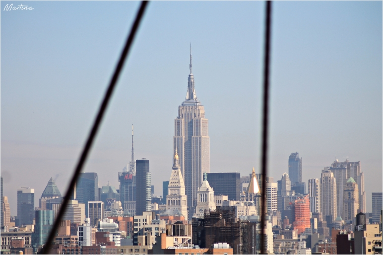 New York, Empire State Building from the Brooklyn Bridge